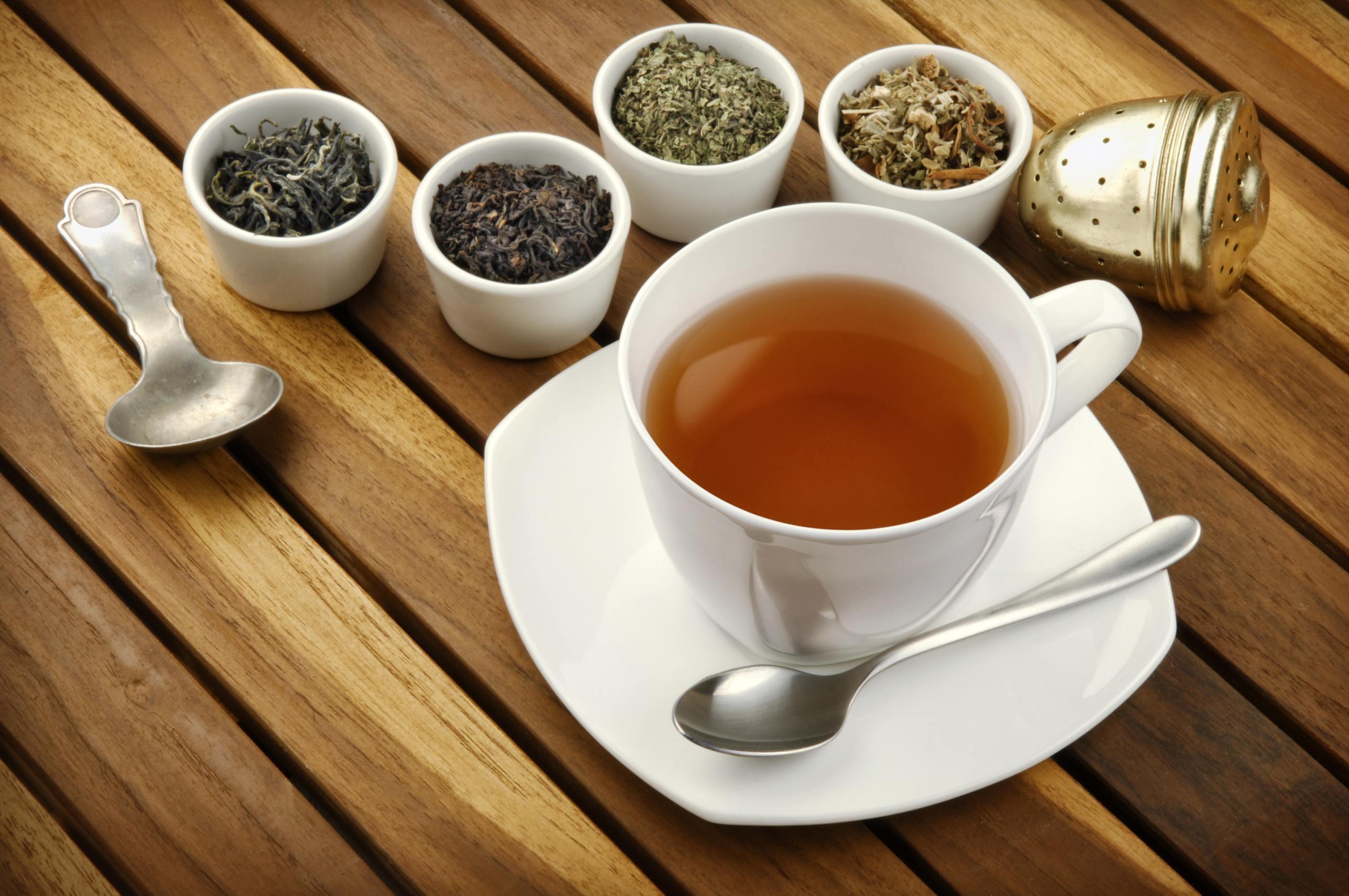 Teesorten mit Tasse